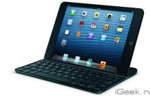 Чехол-клавиатура для iPad mini от Logitech