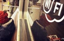 В Москве пассажирам метро по Wi-Fi показали порно-контент