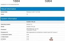 Huawei P10 попал в GeekBench