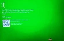 «Экран смерти» в Windows 10 стал зеленым