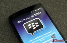 BBM доступен для смартфонов на Android 2.3