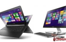 Lenovo представила моноблок A540 и ноутбуки-трансформеры Flex 2