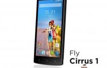 Fly Cirrus 1 – новый технологичный смартфон
