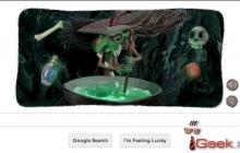 Новый Google Doodle к Хэллоуину
