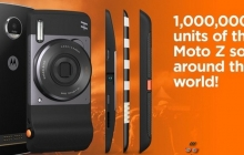 Продан миллион смартфонов Lenovo Moto Z