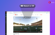 Opera первым среди браузеров поддерживает видео с углом обзора 360 градусов