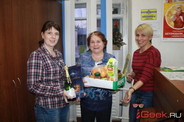 Подписчица «Глобуса» Надежда Тарасова к Старому Новому году выиграла продуктовую корзину
