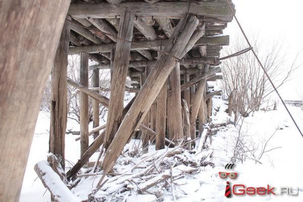 Мост в серовском селе Филькино, который рухнул под тяжестью КамАЗа, продолжает разваливаться?