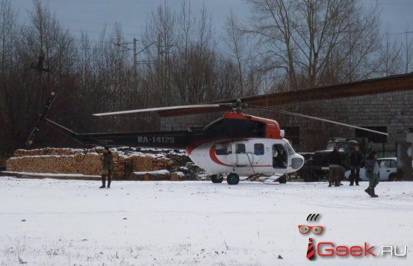 Вертолет из Екатеринбурга несанкционированно приземлился на «огород» в Серове. Пилота оштрафовали
