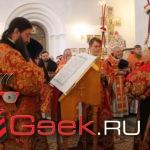 В Серове прошла праздничная литургия. Присутствовали четыре епископа и митрополит Кирилл