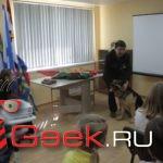 В Серове ветеран Афганистана Марат Есмагамбетов и его верный пес Хан встретились со школьниками на Уроке мужества