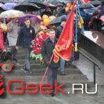 День Победы в Серове прошел празднично, но мокро