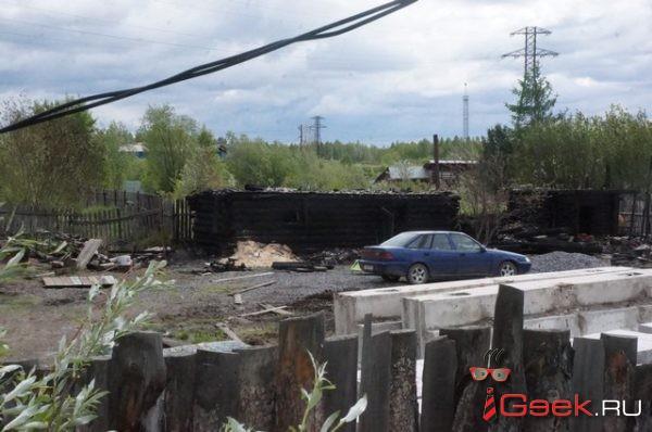 В Серове сгорел частный дом, в котором жили пенсионеры