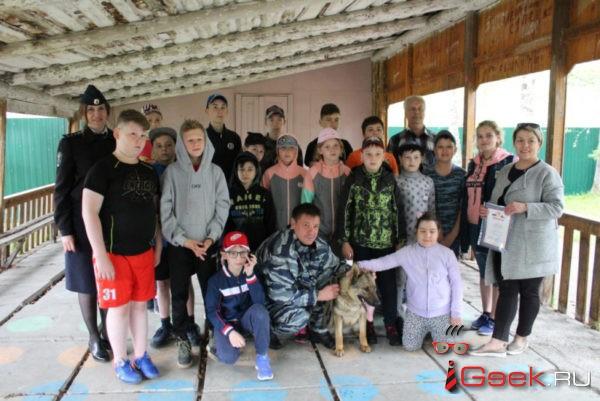 Сотрудники полиции Серова вместе с Умой Турман приехали к ребятам в туристический лагерь «Перевал»